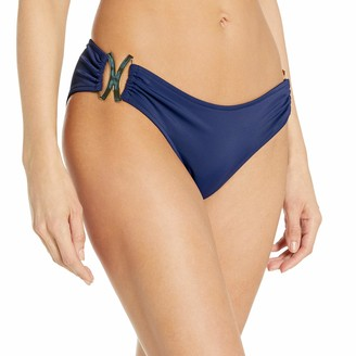 Milly Women's Italian Solid Elba Rouched Bikini Bottom