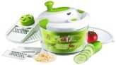 Sharper Image Salad Spinner with Mandoline Attachment Lid