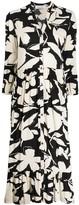 Calvin Klein bold floral shirt dress