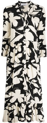 Calvin Klein Bold Floral Shirt Dress