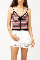 Azalea Crocheted Stripe Crop Tank