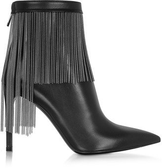 Balmain Black Leather & Chains Mercy Boots