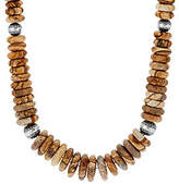 American West Sterling Silver Gemstone Bead Statement Necklace