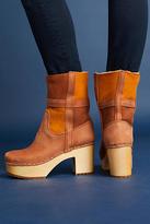 Swedish Hasbeens Hippie Platform Clog Boots