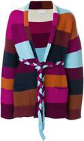 Laneus cashmere belt cardigan