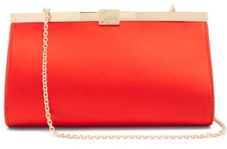 Christian Louboutin Palmette Satin Clutch - Red
