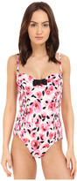 Kate Spade Spring 17 Smocked Underwire Maillot