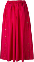 Kenzo press stud midi skirt - women - Silk/Polyester - 34