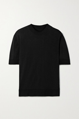 BITE Studios + Net Sustain Delicate Organic Cotton And Silk-blend T-shirt - Black
