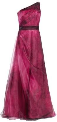 Rene Ruiz Collection One-Shoulder Organza Gown