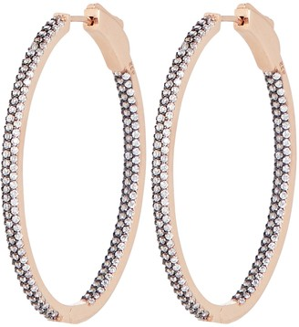 Nickho Rey Slim Tire Crystal Hoop Earrings