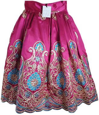 Stella Jean Red Viscose Skirts
