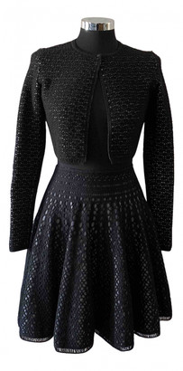 Alaia Black Wool Dresses