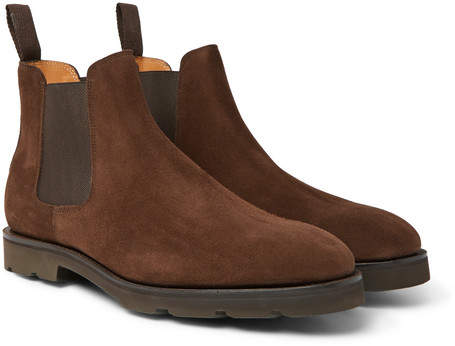 John Lobb Lawry Suede Chelsea Boots - Men - Brown