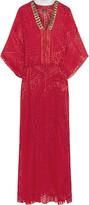 Just Cavalli Embellished silk-chiffon maxi dress