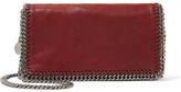 Stella McCartney The Falabella Faux Brushed-leather Shoulder Bag - Burgundy