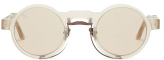 Kuboraum Round Acetate Sunglasses - Beige