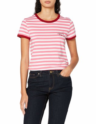 Tommy Jeans Female TJW Logo Stripe Ringer TEE Shirt