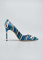 Manolo Blahnik BB 105mm Multicolored Snakeskin Pumps