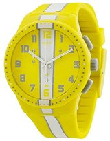 Swatch Men's SUSJ100 Chronoplastic-Amorgos Analog Display Quartz Yellow Watch