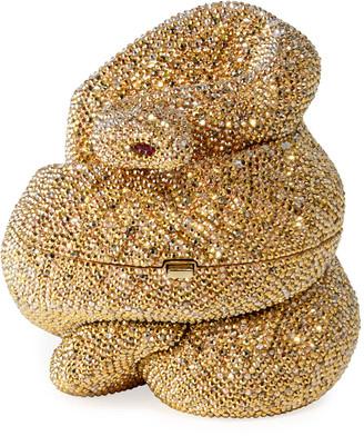 Judith Leiber Couture Snake Golden Cobra Minaudiere