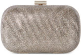 Karen Millen Glitter Fabric Clutch - Gold