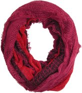 David & Young Women's Striped Single Loop Scarf