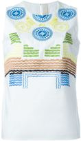Peter Pilotto 'Hera' top - women - Cotton/Polyamide/Spandex/Elastane - 14