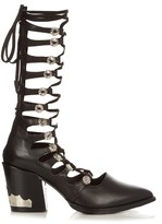 Toga Lace-up leather boots
