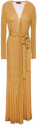 Missoni Metallic Ribbed-knit Cardigan
