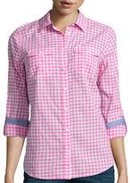 ST. JOHN'S BAY St. John's Bay Long-Sleeve Camp Shirt