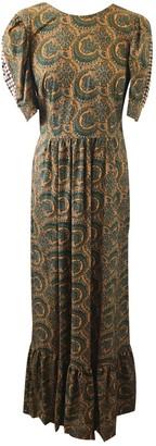 Baum und Pferdgarten Green Cotton Dress for Women