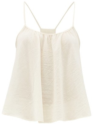 Loup Charmant Scoop-neck Cotton Cami Top - Womens - Ivory