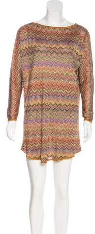 Missoni Metallic Mini Dress