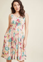 Emily And Fin Culminate in Charm Midi Dress in Garden in XXL - Sleeveless A-line Knee Length by from ModCloth