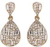Amrita Singh Crystal Teardrop Earrings.