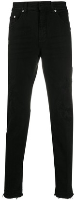 Neil Barrett Extreme Distressed Drill Skinny Jeans