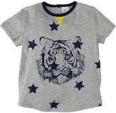 Egg by Susan Lazar Jersey Tee With Lion Graphic (Toddler/Kid) - Grey-4 Years