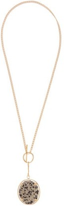 Isabel Marant Spotted-stone Pendant Necklace - Womens - Gold