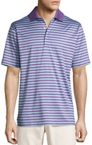 Peter Millar Gabby Striped Cotton Lisle Polo Shirt