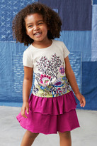 Tea Collection Floral Graphic Tee (Little Girls & Big Girls)