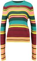 Free People SHOW OFF YOUR STRIPES CREW Jumper green