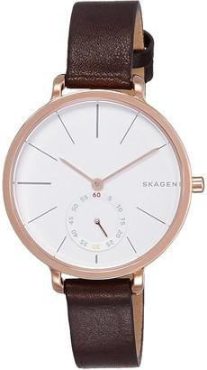 Skagen Women's SKW2356 Hagen Dark Brown Leather Watch