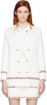 Thom Browne White Selvedge Tweed Blazer