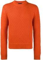 Calvin Klein Men's Orange Wool Sweater.
