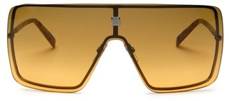 Givenchy Gradient-lens Metal Shield Sunglasses - Yellow