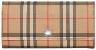 Burberry Vintage Check and Leather Continental Wallet