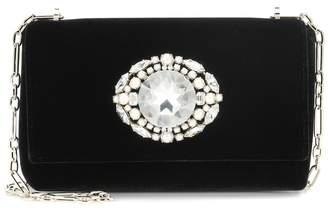 Jimmy Choo Thea embellished velvet clutch