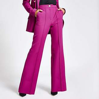 River Island Purple structured flare trousers