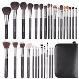 Docolor 29Pcs Professional Makeup Brushes Set Goat Hair Foundation Eyeshadow Kits with PU Leather Makeup Case